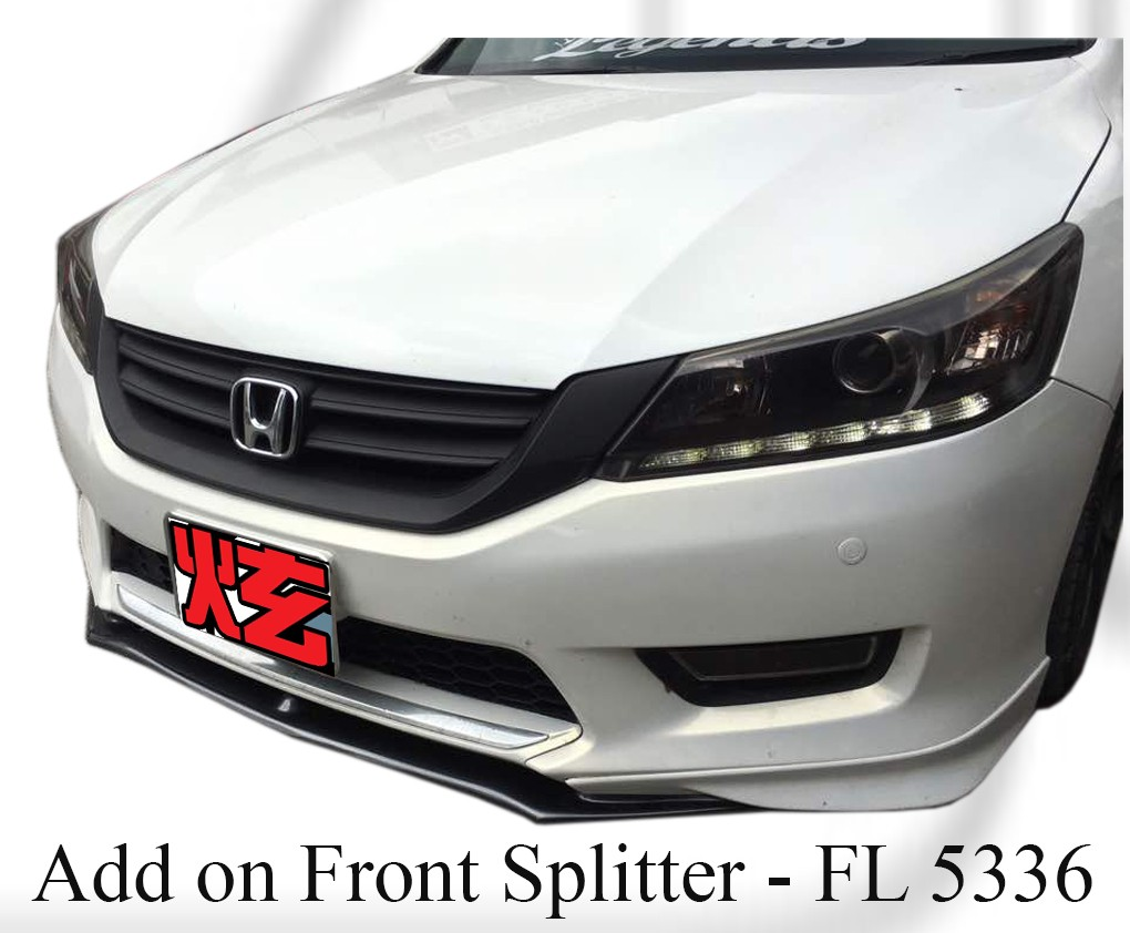 Honda Accord 2013 Front Add on Splitter for Euro Lip