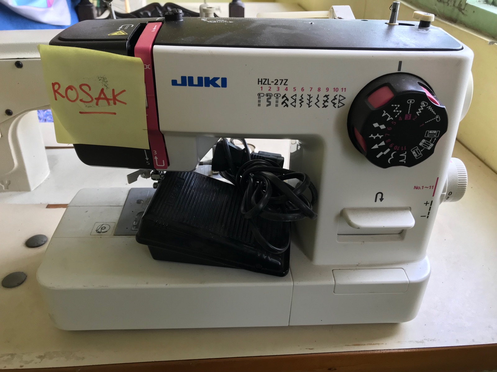 Tampoi!Rerpair Juki Portable Zie Zig Sewing Machine