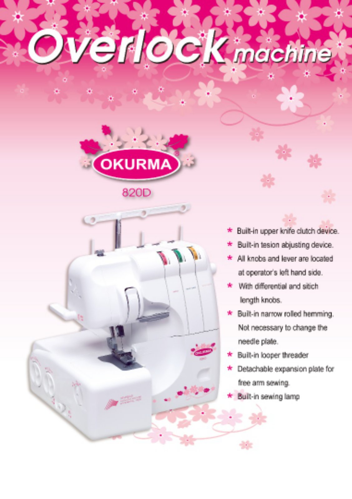 New Model Portable Overlock Sewing machine