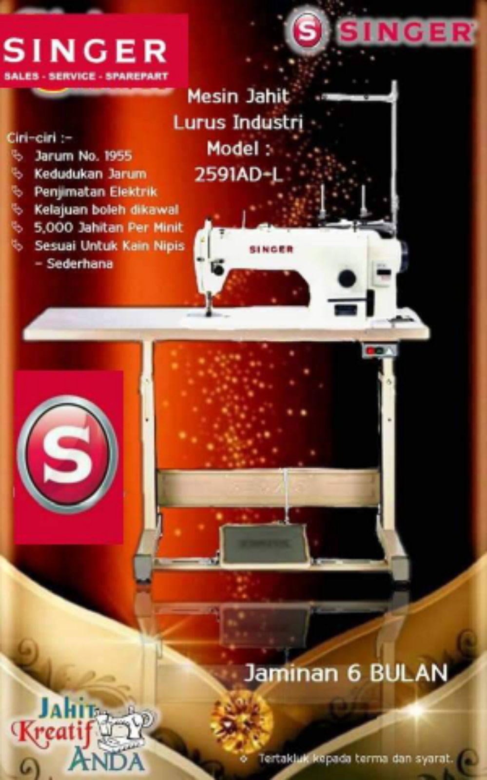Singer Hi Speed Sewing machine