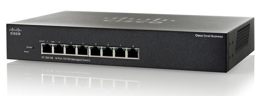 Cisco SF300-08 8-Port 10/100 Managed Switch