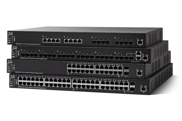 Cisco SX550X-24F 24-Port 10G SFP+ Stackable Managed Switch