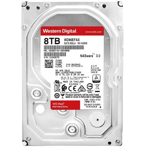 WD Red 8TB NAS Hard Drive WD80EFAX