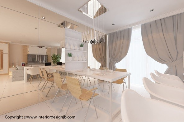 Design of dining hall (interior design) - Taman Pelangi Indah, Johor Bahru