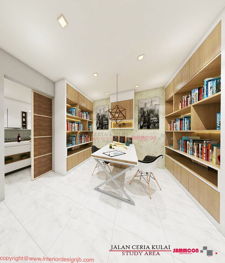 Interior Design Johor Bahru (JB) - Study area decoration