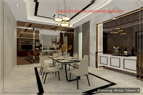 Interior Design Johor Bahru (JB) - Dining hall decoration and renovation