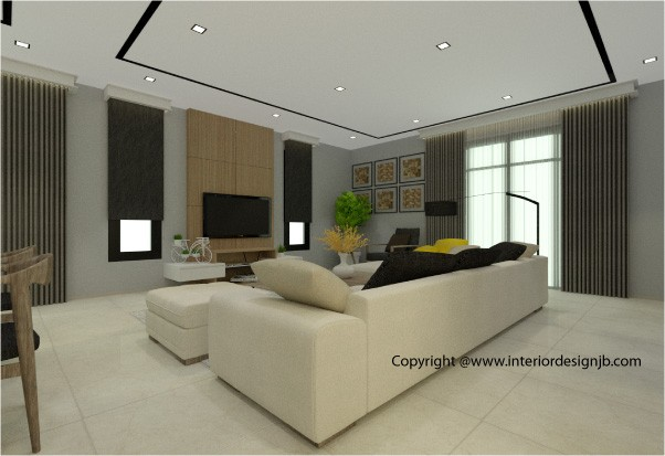 Interior Design Johor Bahru (JB) -Tv cabinet and panel