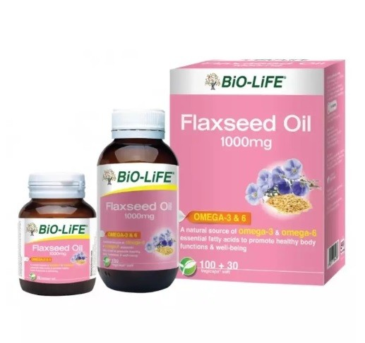 BIO-LIFE FLAXSEED OIL 1000MG
