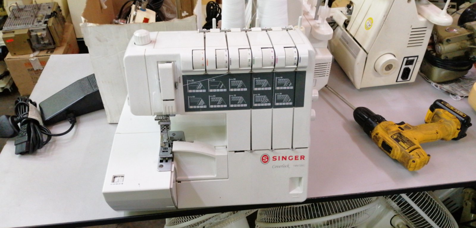 RepairSevis Singer Coverstitch Portable sewing machine