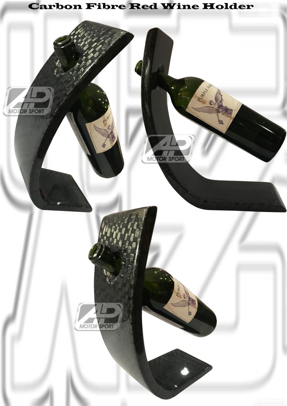 Carbon Fibre Red Wine Holder