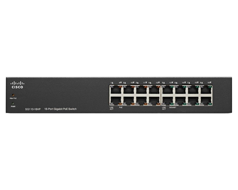 Cisco 16-Port PoE Gigabit Switch.SG110-16HP/SG110-16HP-UK