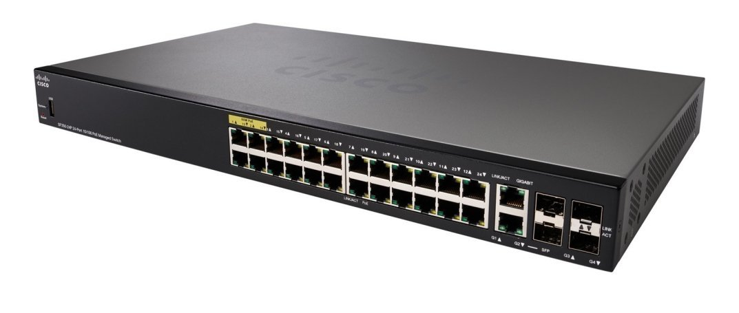 Cisco 24-port 10/100 Managed Switch.SF350-24/SF350-24-K9-UK