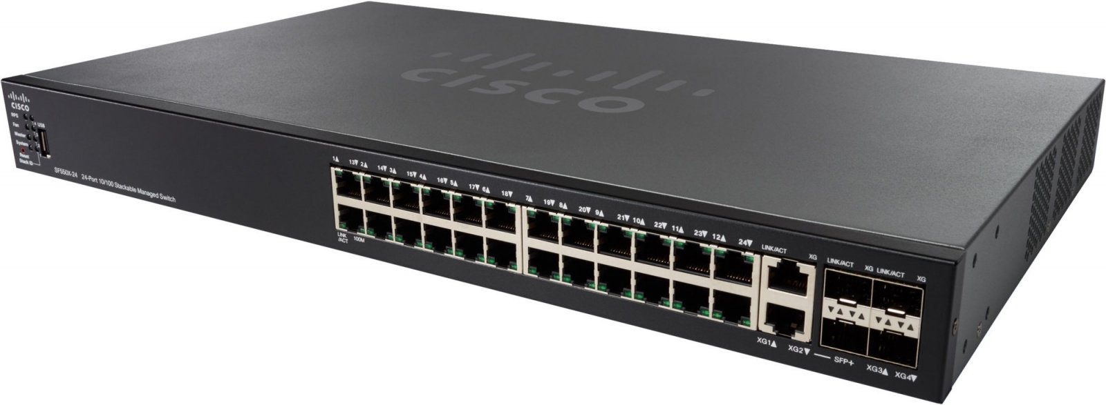 Cisco 24-port 10/100 Stackable Switch.SF550X-24/SF550X-24-K9