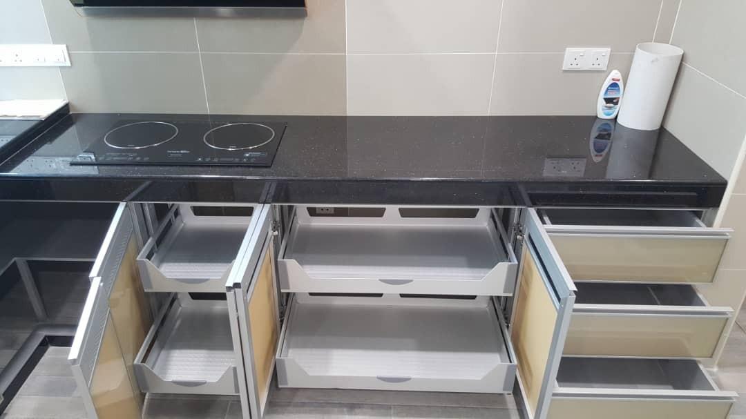 Aluminium Kitchen Cabinet Glanz Solf Closed Accessories Johor