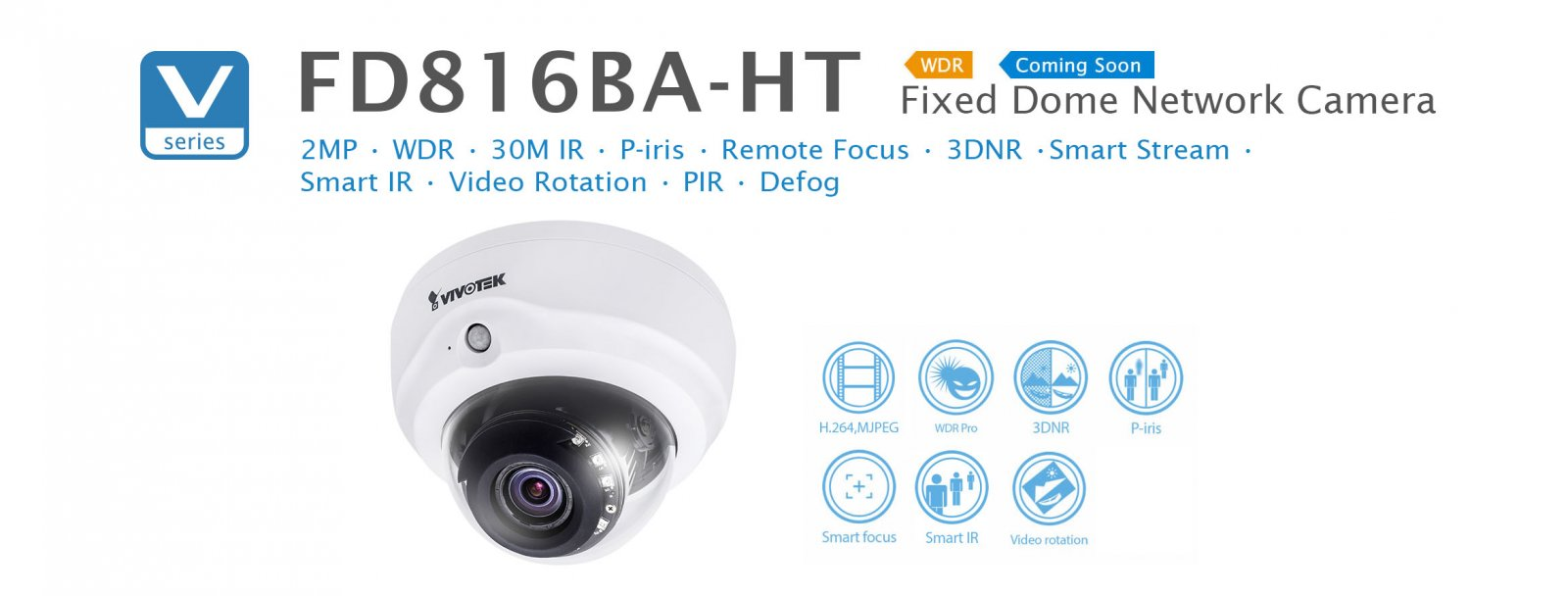 FD816BA-H. Vivotek Fixed Dome Network Camera