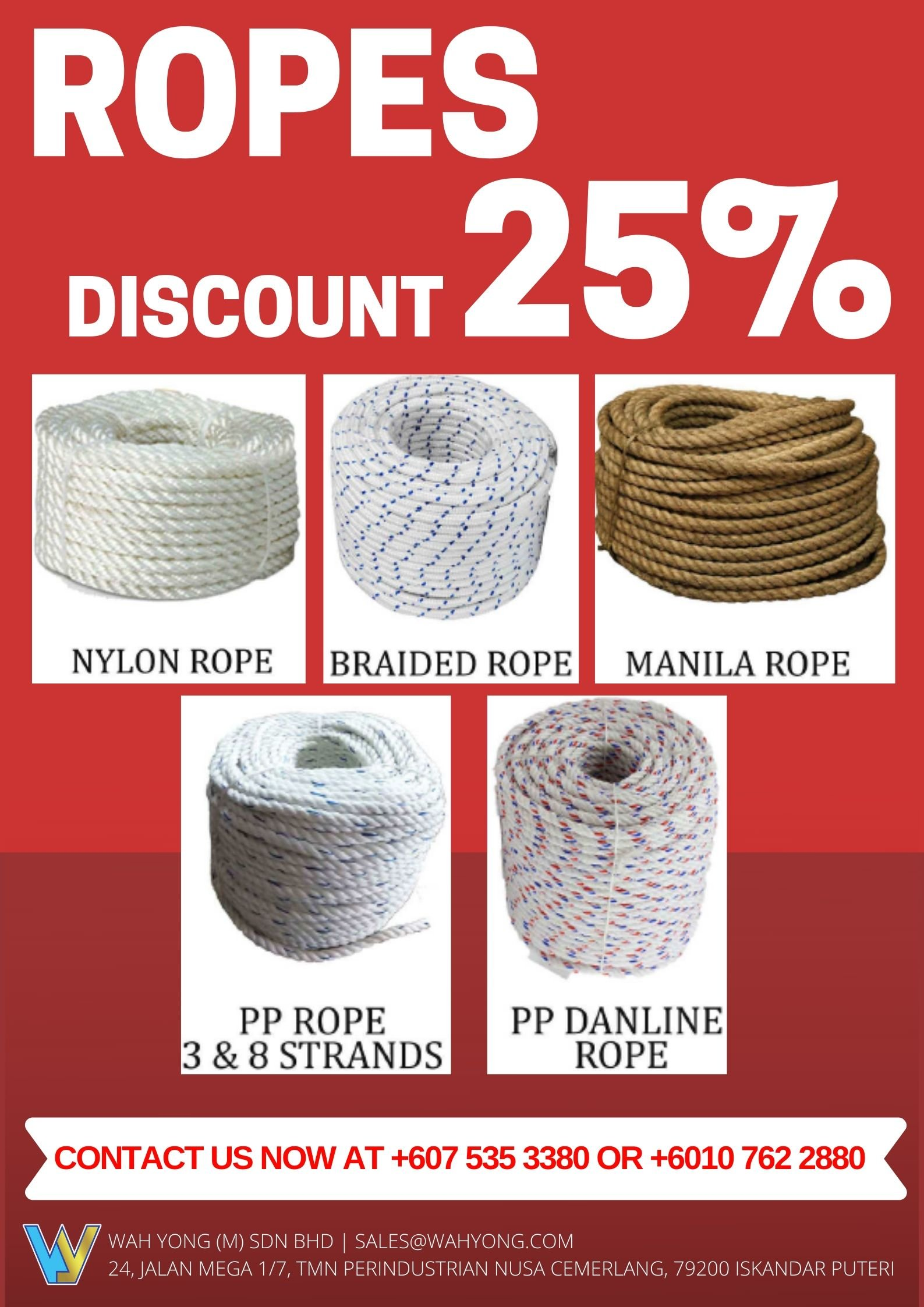 ROPES PROMOTION - DISCOUNT 25%