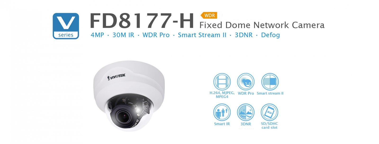 FD8177-H. Vivotek Fixed Dome Network Camera
