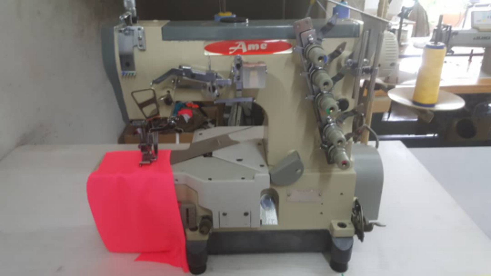 Second Hand Ame Industrial Interlock coverstitch Sewing Machine