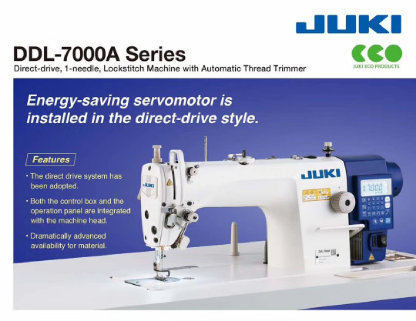 New Juki Super Hi Speed Automatik Sewing Machine