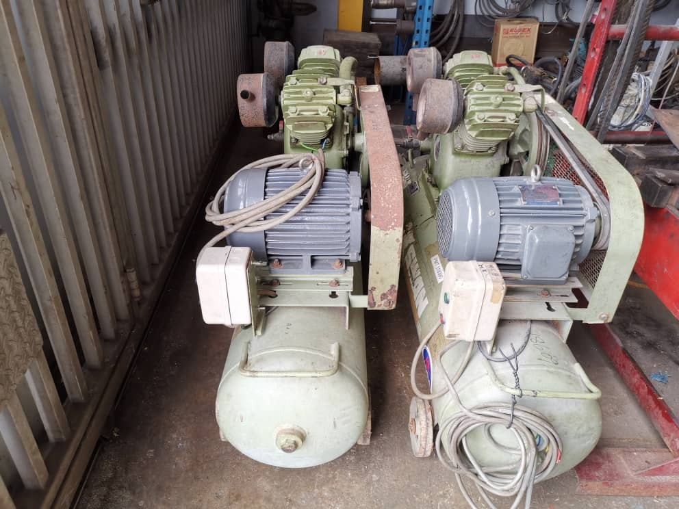 Second Hand 3hp three phase air compressor / 2hp single phas