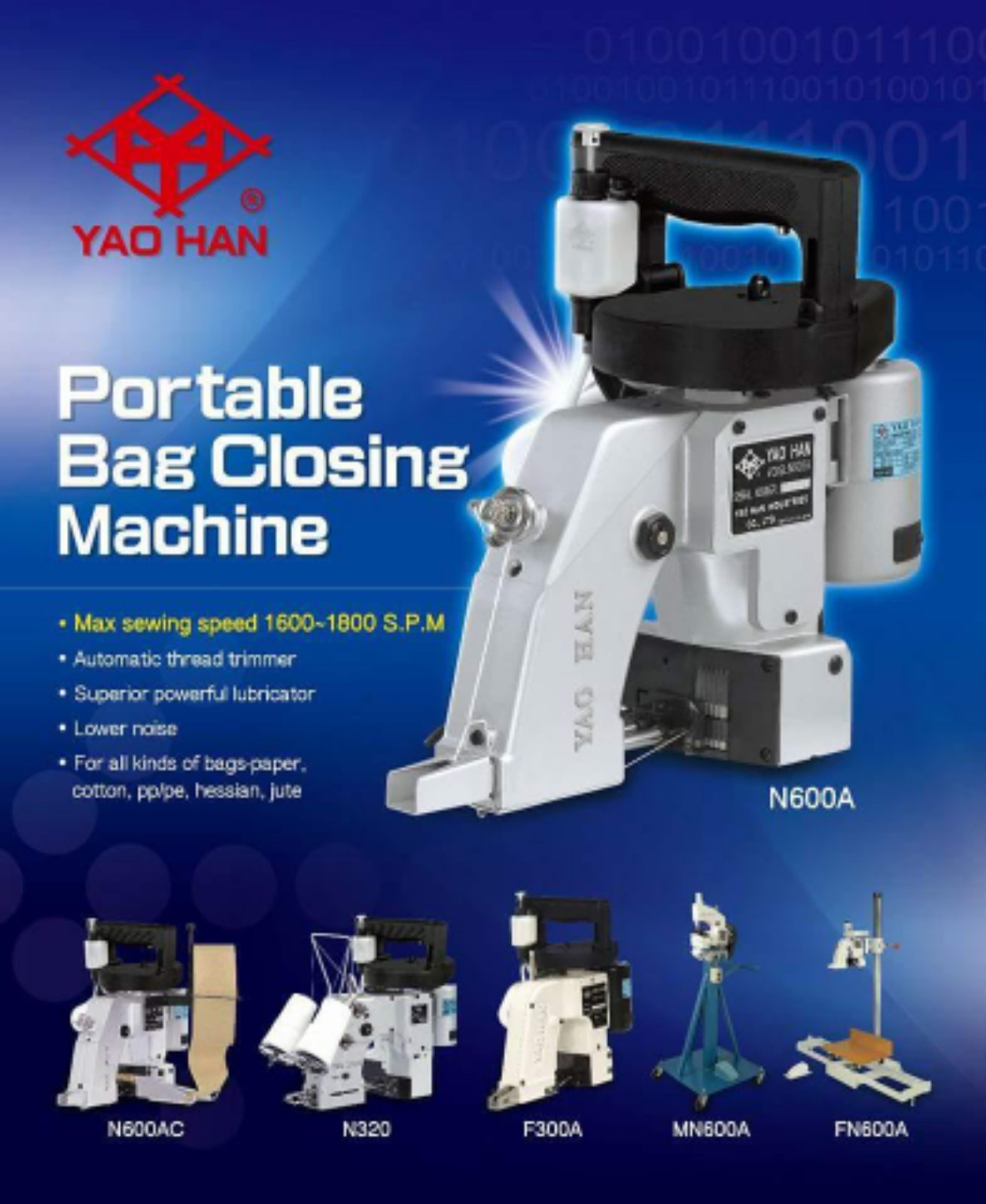 New Yaohan Bag Closing Machine