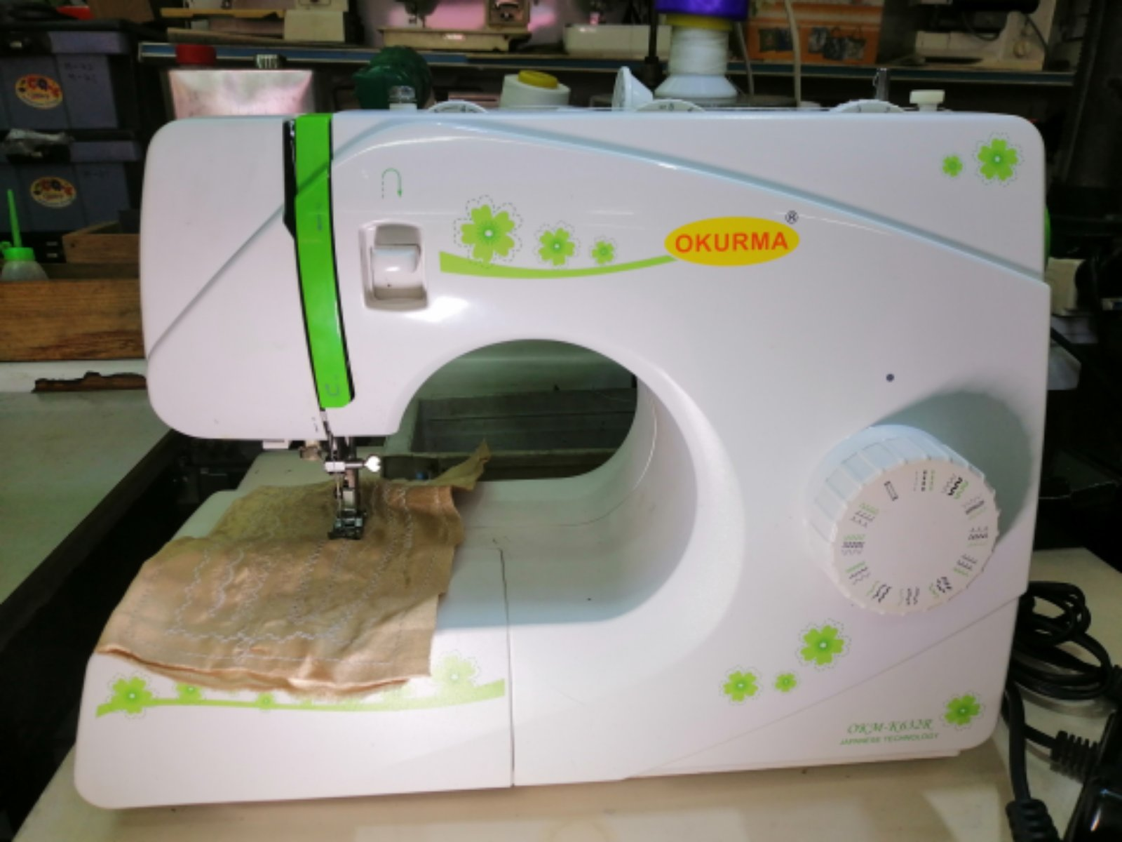 Second Hand Okurma Portable Sewing Machine