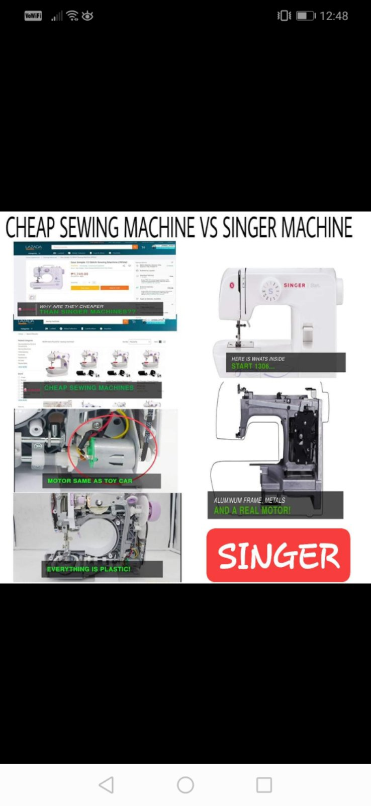 Normal Sewing Machine And Singer Sewing Machine