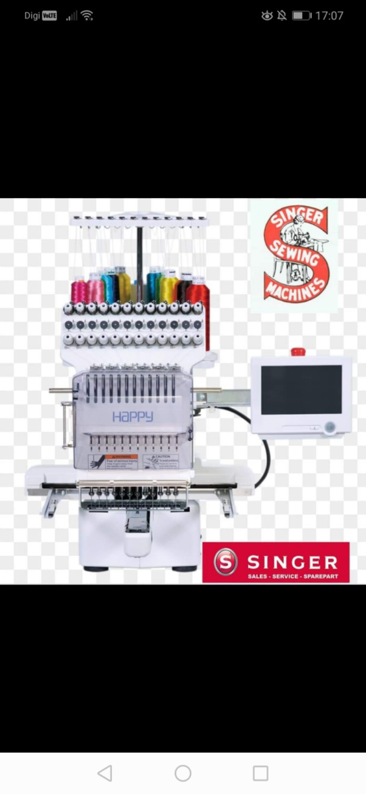 Brand Happy Emboidery Sewing Machine For Singer