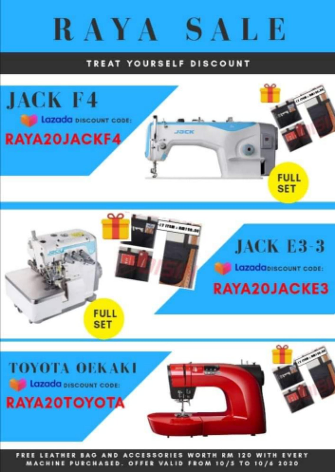 Promosi From Jack Sewing Machine