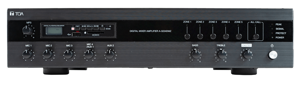 A-3212DMZ. TOA Digital Mixer Amplifier with MP3 and Zones. #