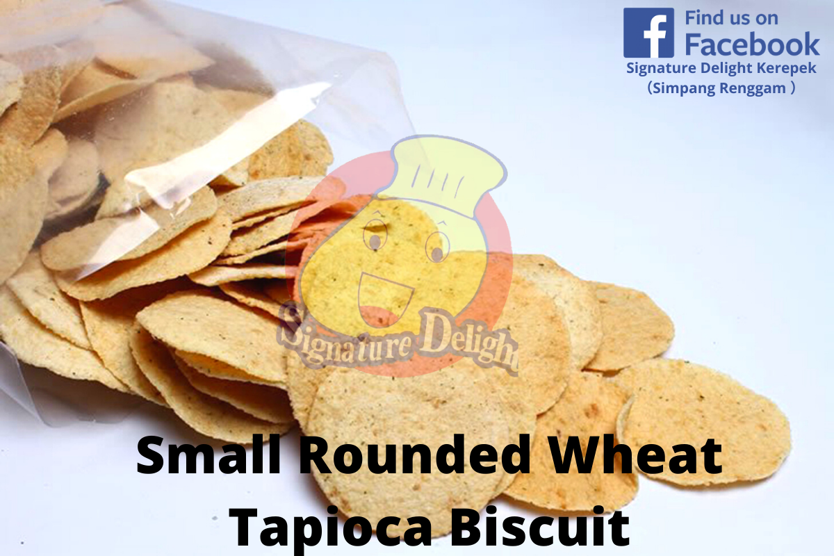 Small Rounded Wheat Tapioca Biscuit