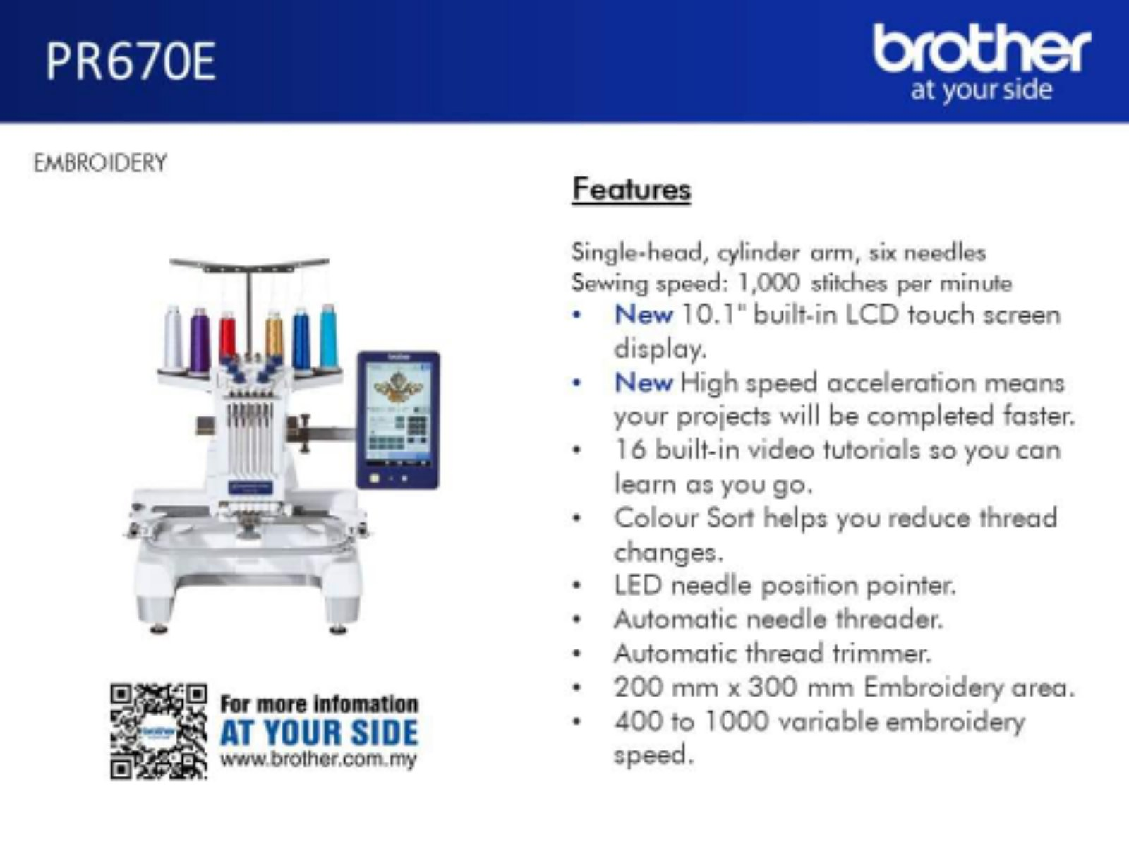 Brother Emboidery Home Sewing machine