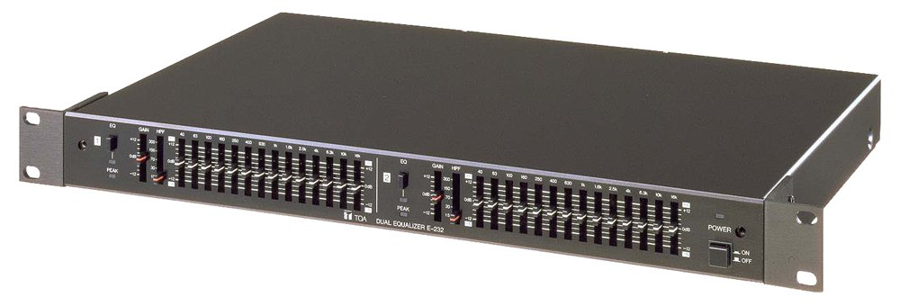 E-232. TOA 2-Channel 2/3 Octave Graphic Equalizer. #ASIP Con