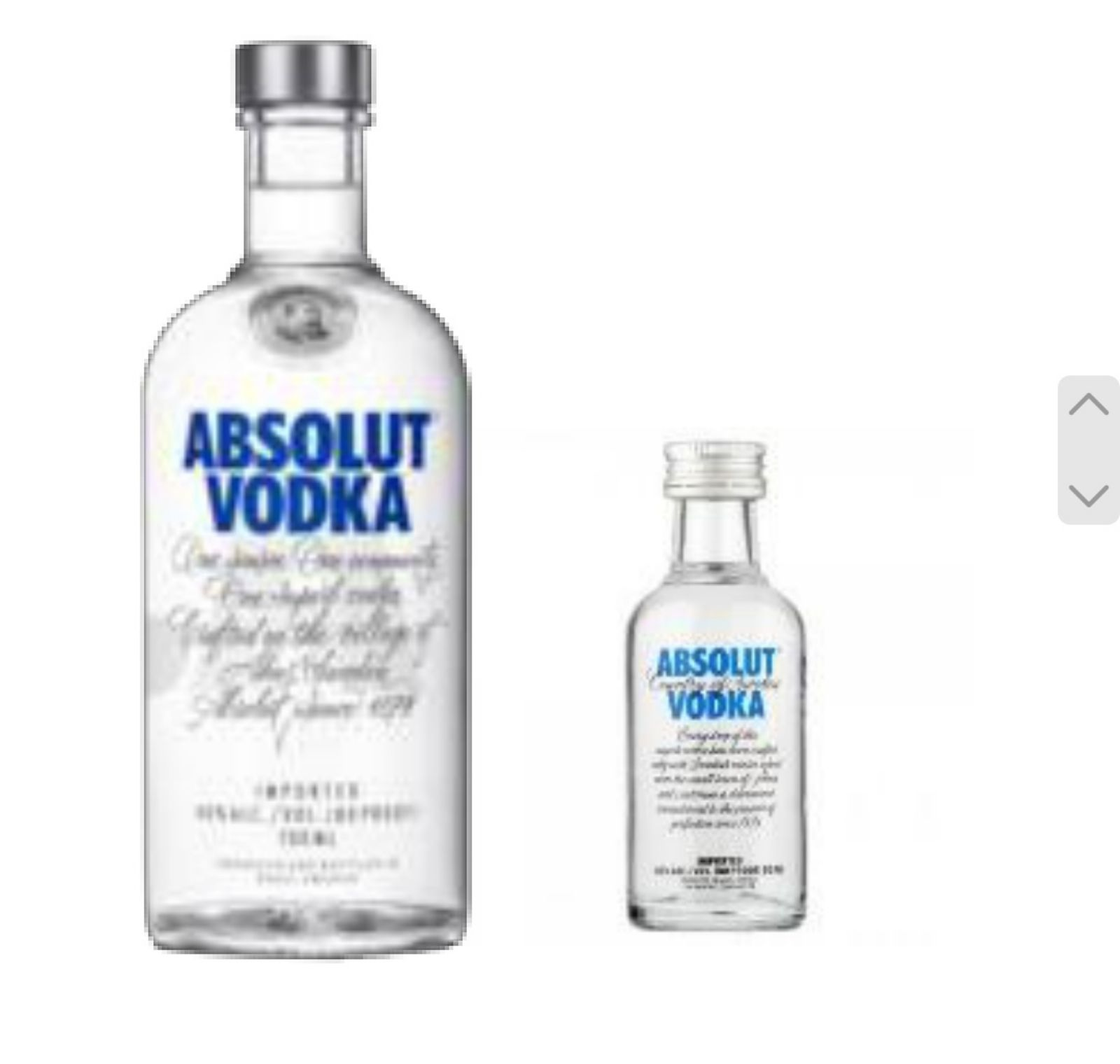 ABSOLUTE VODKA free 5cl