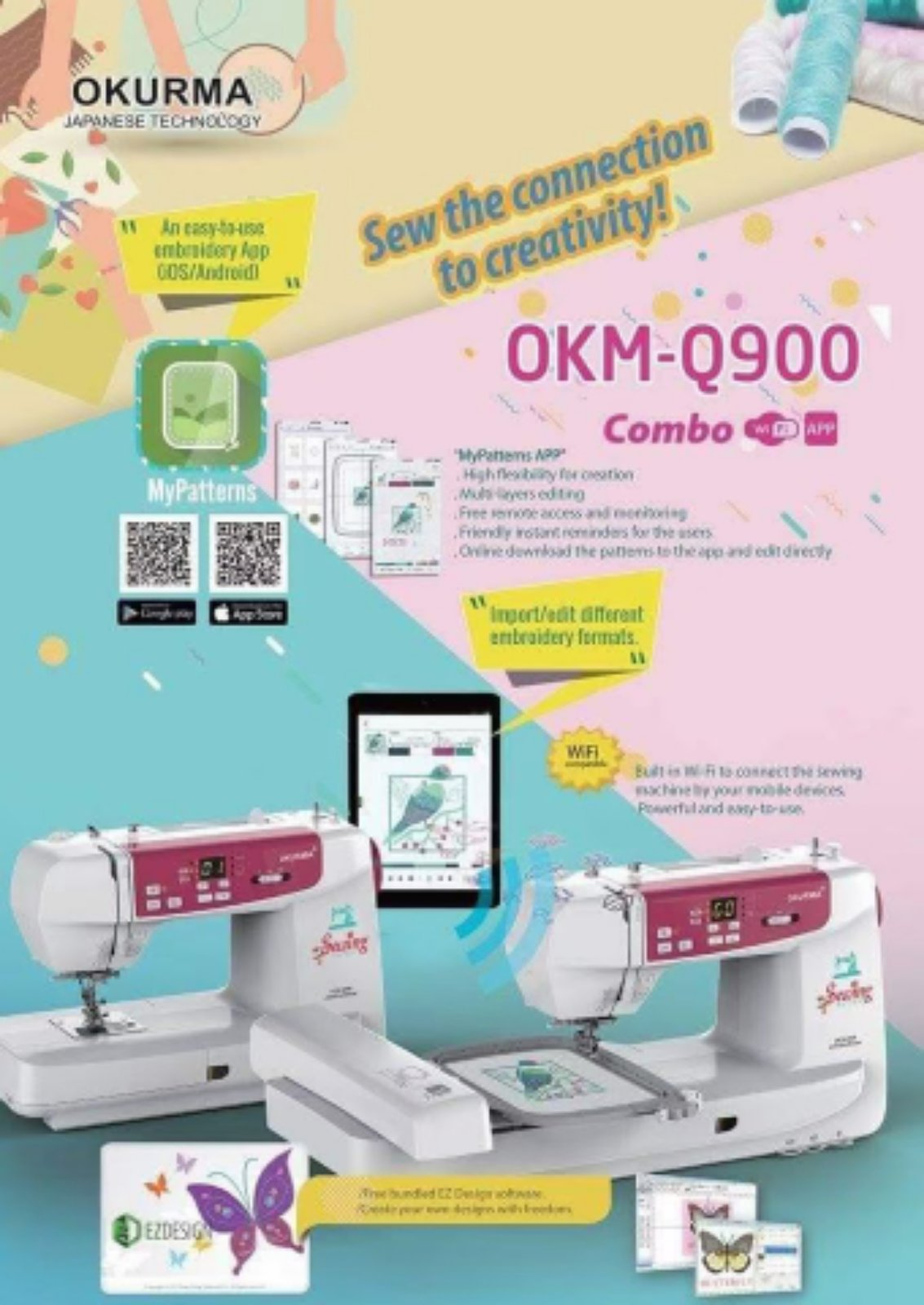 Okurma Portable Emboidery Sewing Machine