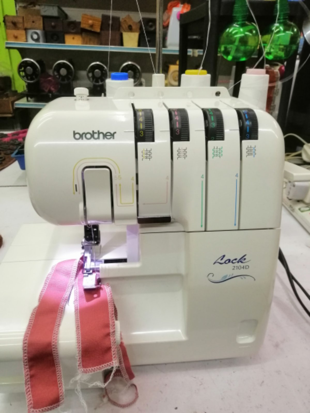 PORTABLE OVERLOCK HOME SEWING MACHINE