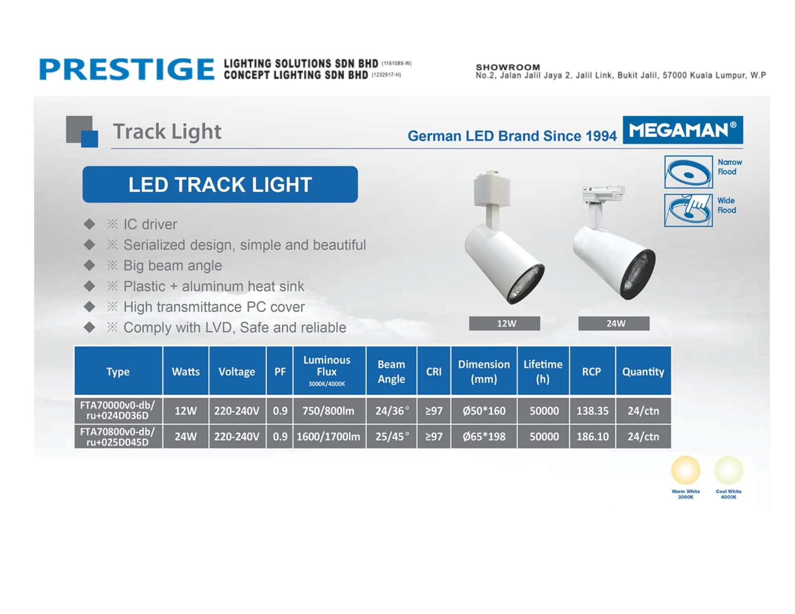 Track Lights with built in LED