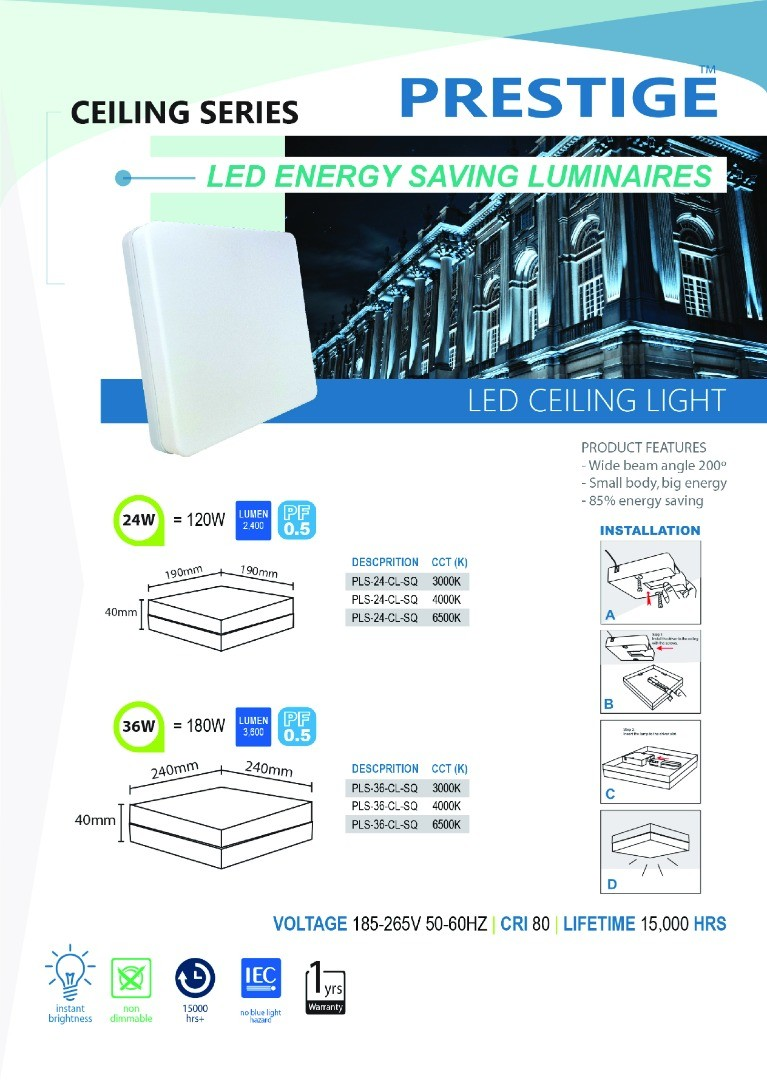 LED Ceiling Lights Series Square
