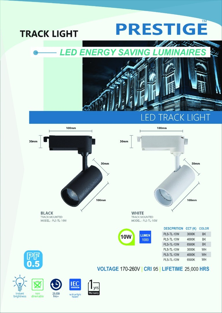 LED Tracklights (Built In Bulbs)