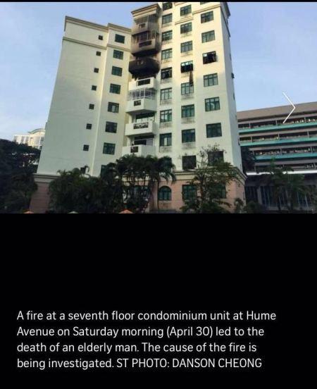 CONDOMINIUM UNIT AT HUME AVENUE CAUGHT FIRE (30/4/16)