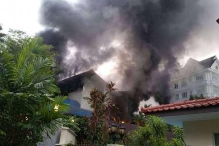 FIRE BREAKS OUT AT BUKIT TIMAH PRESCHOOL (17/5/16)