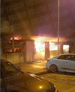 FIRE BROKE OUT AT BLOCK 246 HOUGANG ST.22 COFFEESHOP (17/5/16)