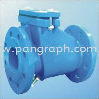 Rubber Sealing Swing Check Valve Flanged Ends