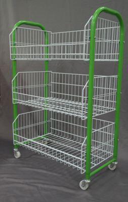 16951GN-2'WX3'H BASKET STD-3BASKET-GREEN