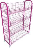 20482PN-4'Hx3'L Basket Stand-Pink