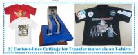 Contour Line Cutting for T-shirt Transfer