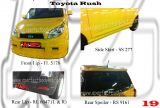 Toyota Rush Front Lip, Side Skirt, Rear Lip & Rear Spoiler