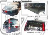 Toyota ISIS 06 Front Lip, Side Skirt, Rear Lip & Rear Spoiler