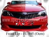 Subaru 08 Version 10 Oem Front Lip