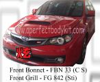 Subaru 08 Version 10 CS Front Bonnet & STI Front Grill